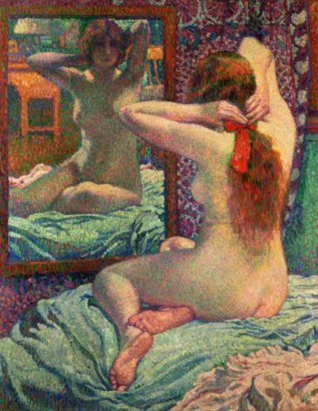The Scarlet Ribbon | Theo van Rysselberghe | oil painting