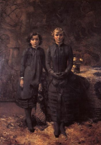 The Schlobach Sisters | Theo van Rysselberghe | oil painting