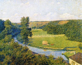 The Valley of the Sambre | Theo van Rysselberghe | oil painting