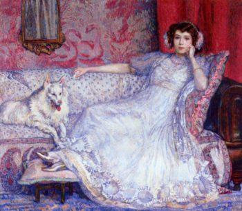The Woman in White | Theo van Rysselberghe | oil painting