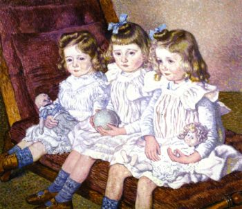 Three Daughters of Thomas Braun | Theo van Rysselberghe | oil painting