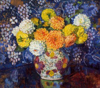 Vase of Flowers | Theo van Rysselberghe | oil painting