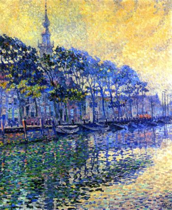 Veere Holland October Mists | Theo van Rysselberghe | oil painting