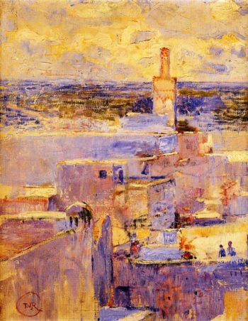 View of Meknes Morocco | Theo van Rysselberghe | oil painting