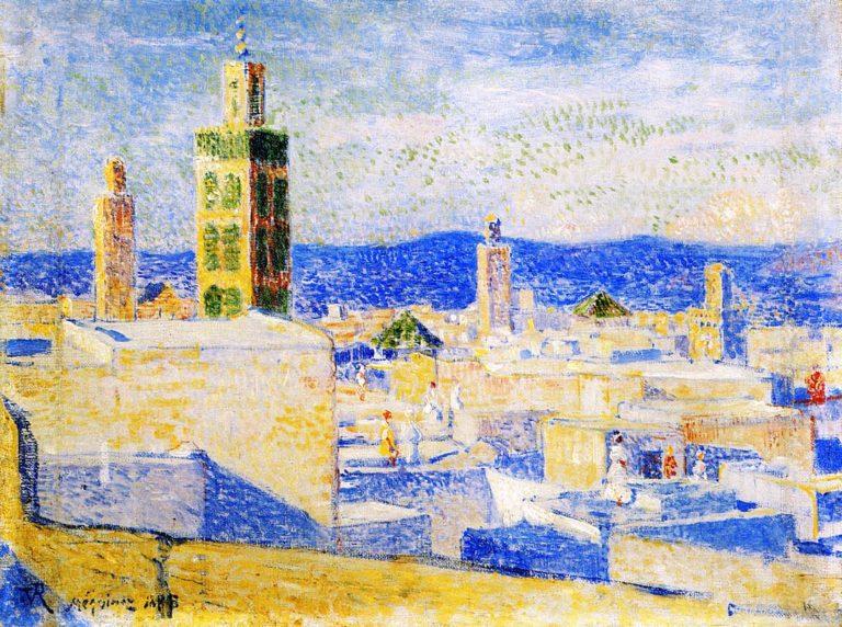 View of Meknes Morocco | Theo van Rysselberghe | oil painting