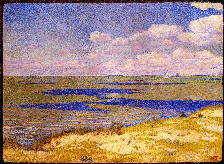View of the River Scheldt | Theo van Rysselberghe | oil painting