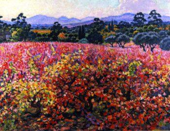 Vines in October | Theo van Rysselberghe | oil painting