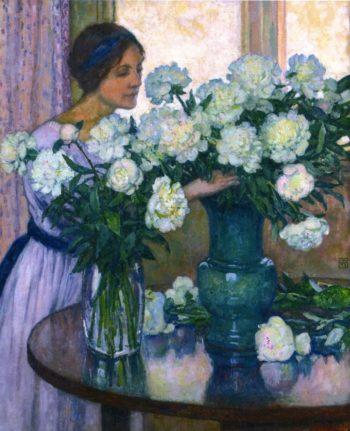 White Peonies | Theo van Rysselberghe | oil painting