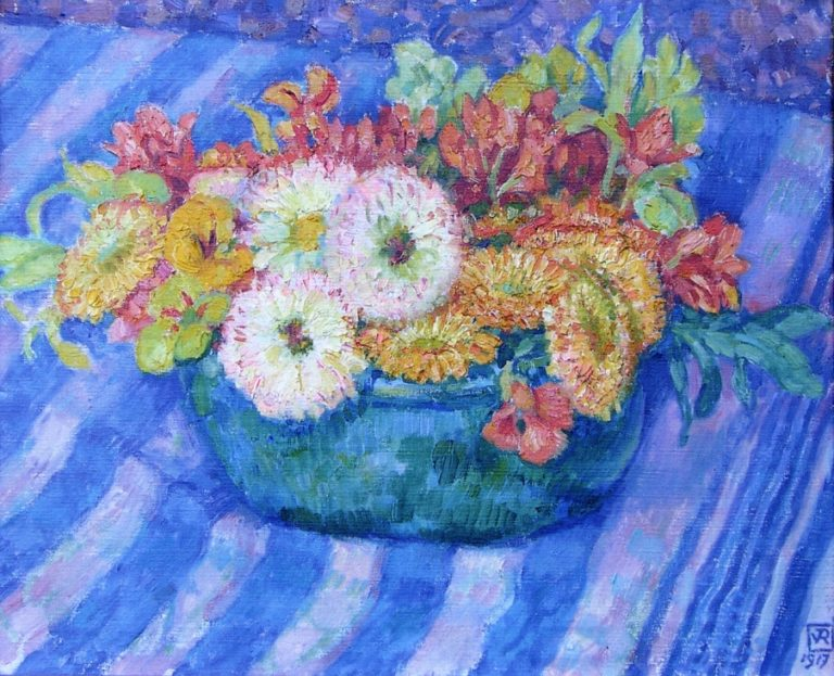 Yellow Bouquet   Theo van Rysselberghe   oil painting