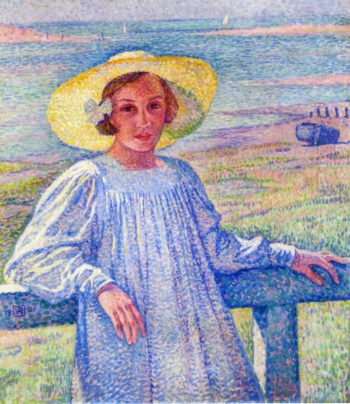 Young Girl in a Straw Hat | Theo van Rysselberghe | oil painting