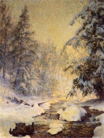 A Brook in Winter | Walter Launt Palmer | oil painting