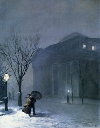 Albany in the Snow | Walter Launt Palmer | oil painting