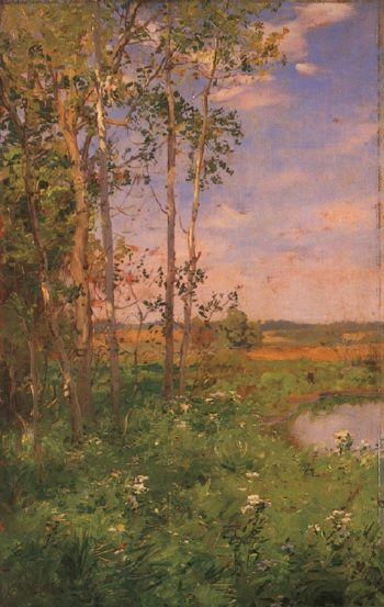 At the Edge of the Pond | Walter Launt Palmer | oil painting