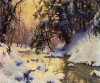 Brook and Hemlocks   Walter Launt Palmer   oil painting