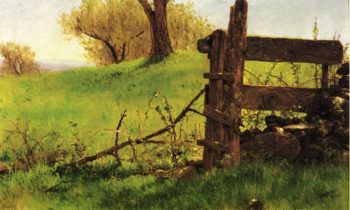 Gate to the Apple Orchard at Olana | Walter Launt Palmer | oil painting