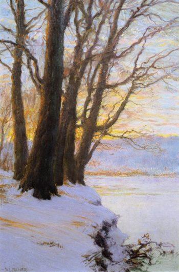Hudson River Sunset   Walter Launt Palmer   oil painting