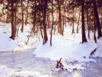 Ice in the Glen | Walter Launt Palmer | oil painting
