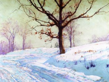Lingering Leaves   Walter Launt Palmer   oil painting