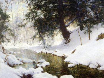 November Snow   Walter Launt Palmer   oil painting