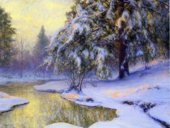 Pine Tree At Sunset | Walter Launt Palmer | oil painting