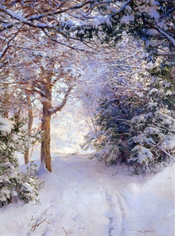 Snowy Landscape | Walter Launt Palmer | oil painting