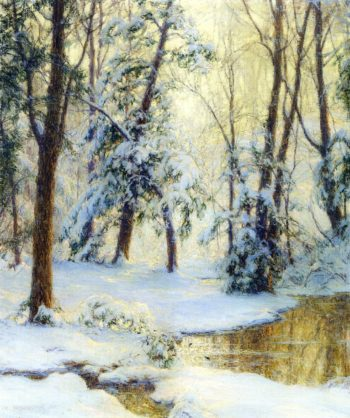 Woodland Pool | Walter Launt Palmer | oil painting