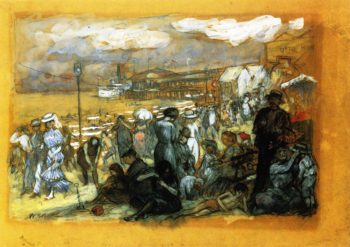 Afternoon at Coney Island | William James Glackens | oil painting