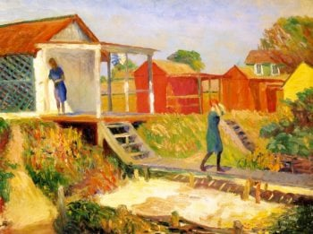 At the Beach Bellport | William James Glackens | oil painting