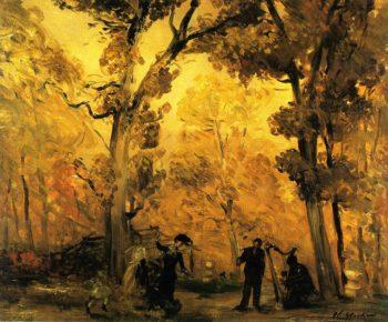 Autumn Landscape | William James Glackens | oil painting
