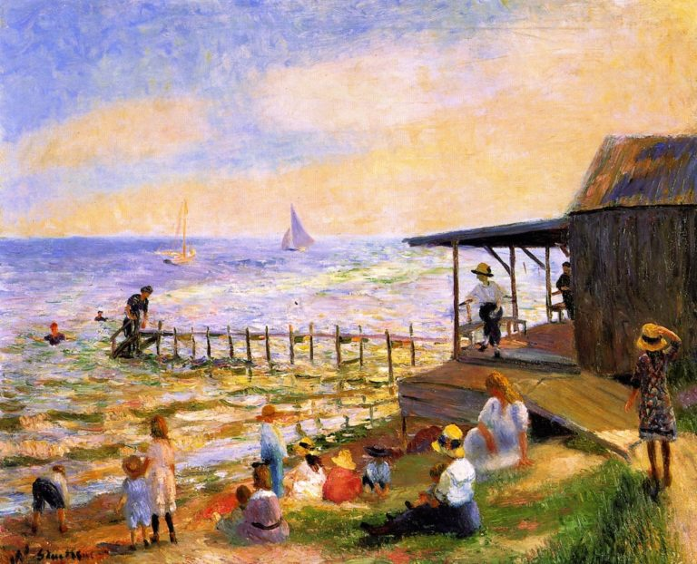 Beach Side | William James Glackens | oil painting