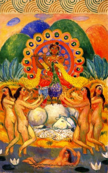 Buddha and the Maidens | William James Glackens | oil painting
