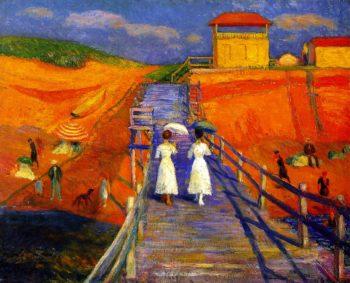 Cape Code Pier | William James Glackens | oil painting