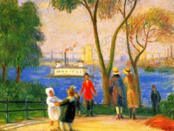 Carl Schurz Park New York | William James Glackens | oil painting