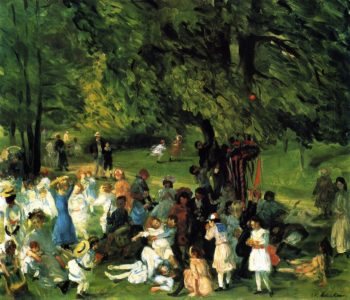 May Day in Central Park | William James Glackens | oil painting
