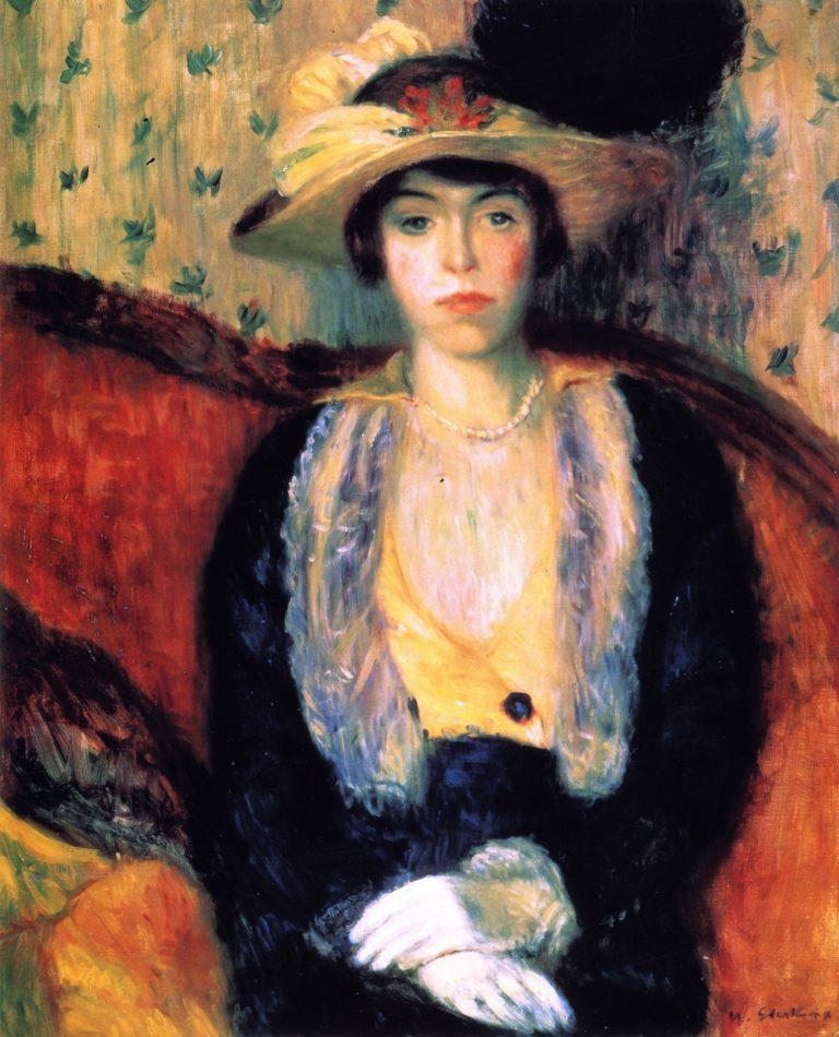 Miss Olga D   William James Glackens   oil painting