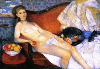 Nude with Apple | William James Glackens | oil painting
