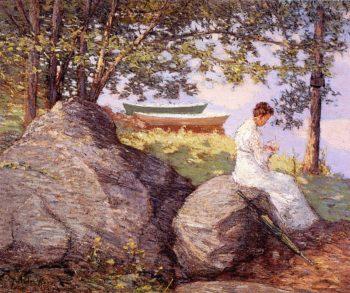On the Shore | Julian Alden Weir | oil painting