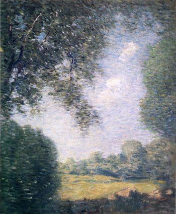 Overhanging Trees | Julian Alden Weir | oil painting