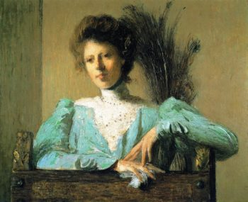 Peacock Feathers | Julian Alden Weir | oil painting