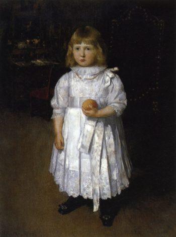 Portrait of Cara | Julian Alden Weir | oil painting