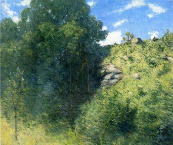 Ravine near Branchville | Julian Alden Weir | oil painting
