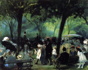 The Drive Central Park | William James Glackens | oil painting