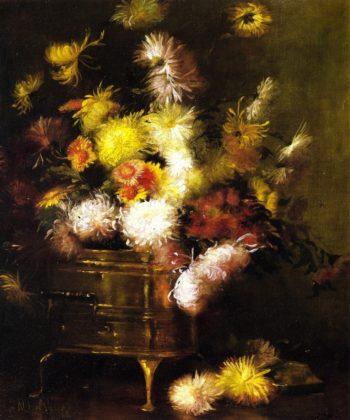 Still LIfe with Brass Pot | Julian Alden Weir | oil painting