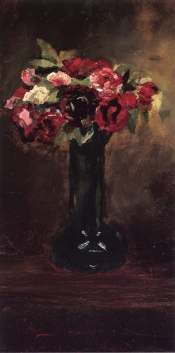 Still LIfe with Flowers | Julian Alden Weir | oil painting