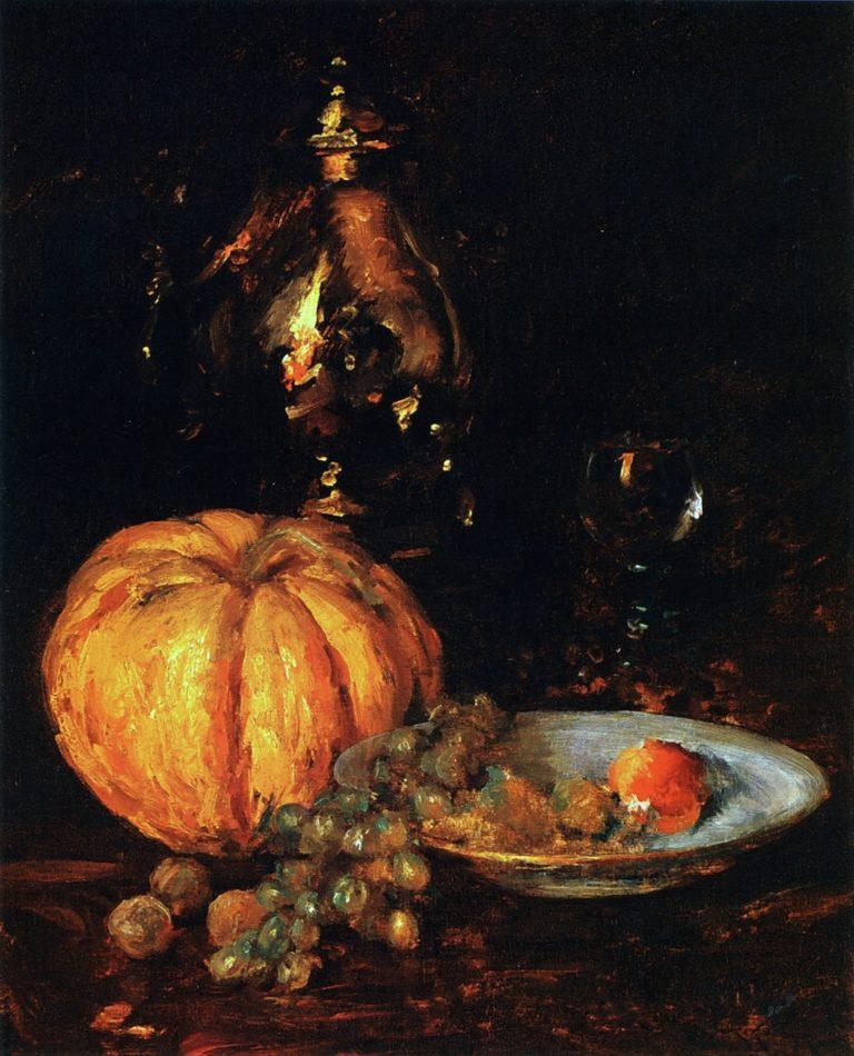 A Belgian Melon | William Merritt Chase | oil painting