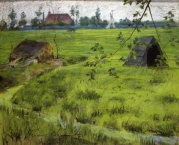 A Bit of Holland Meadows | William Merritt Chase | oil painting