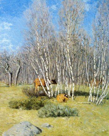 The Birches | Julian Alden Weir | oil painting