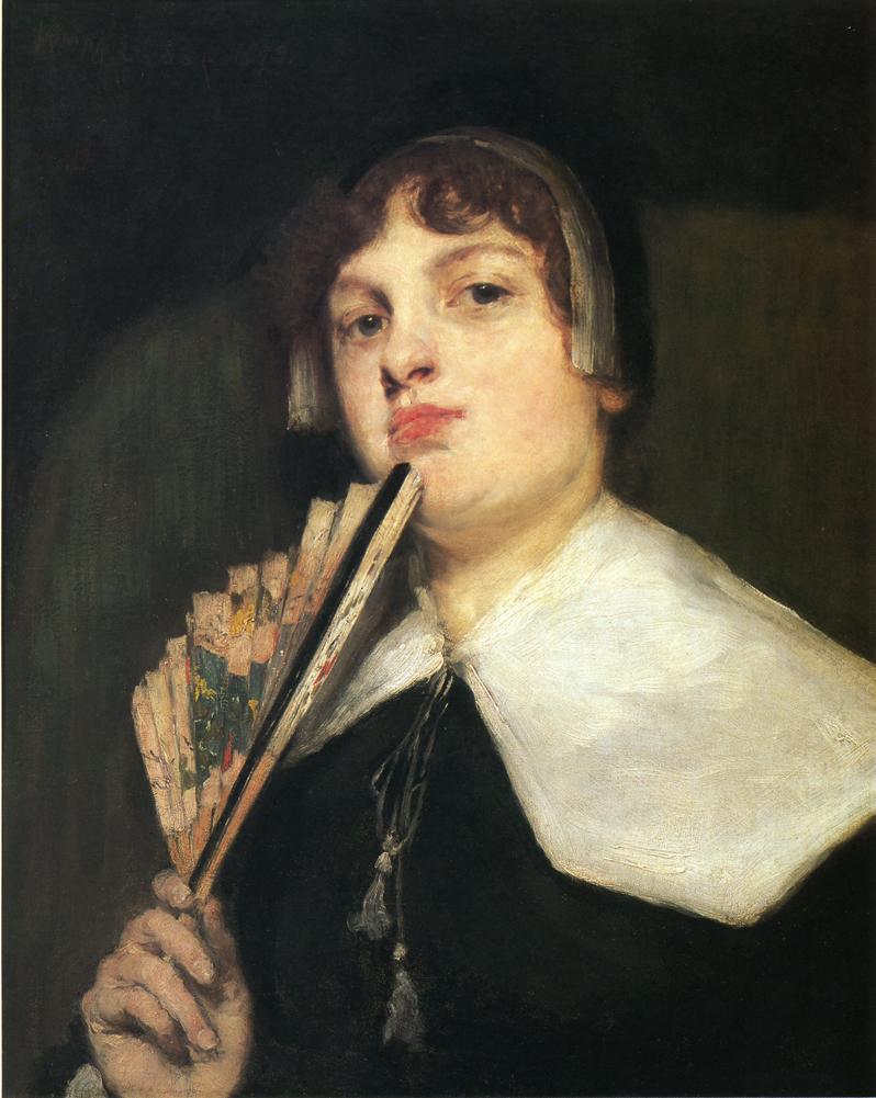 A Coquette 1835 | William Merritt Chase | oil painting