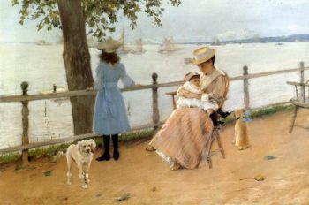 Afternoon by the Sea | William Merritt Chase | oil painting