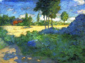 The Farmer's Lawn   Julian Alden Weir   oil painting